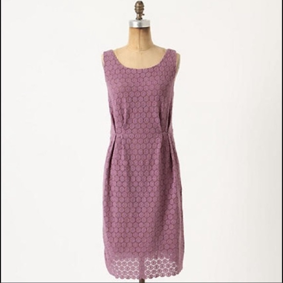 Anthropologie Dresses & Skirts - Anthropologie Maeve purple lace eyelet dress